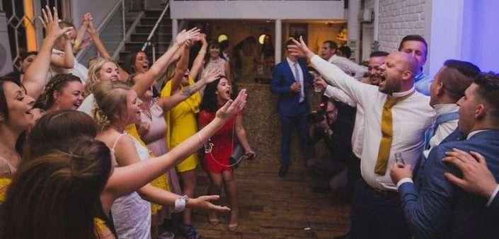 People dancing to an Essex Wedding DJ